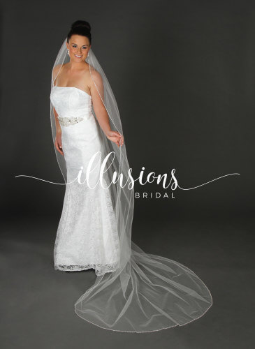 Illusions Bridal Veil Style V-7064